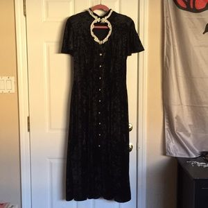 Vintage all that jazz velvet dress